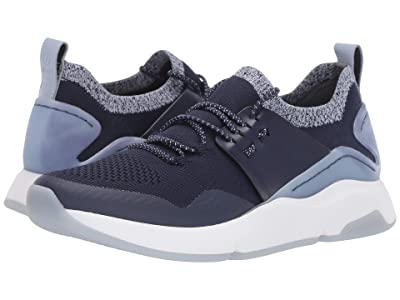 Cole Haan ZEROGRAND All-Day Trainer (Maritime Blue Knit/Maritime Blue Leather/Optic White) Women