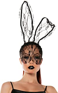 Starline Women's Lace Bunny Mask Headband Accessory