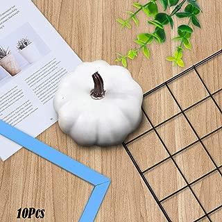 Hot Sale!DEESEE(TM)🌸🌸10pcs/set Halloween White Artificial Pumpkins Fall Thanksgiving Decor