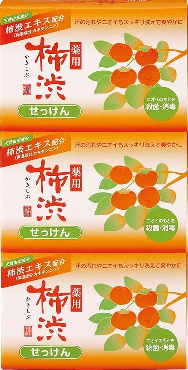 模索公平合法熊野油脂 薬用 柿渋石けん 100g×3個