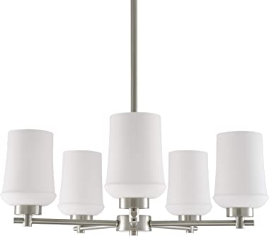 Celeste 5 Light Chandelier | Brushed Nickel Hanging Light Fixture LL-CH164-1BN