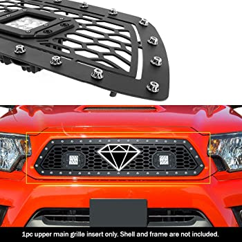 APS Compatible with 1986-1997 Pickup Main Upper Black Wide 20mm Horizontal Channel with Rivet Studs Billet Grille Insert Self Assemble N85230W