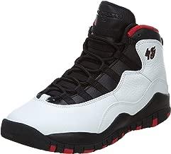 AIR JORDAN 10 Retro Big Kids Style, White/Black/True Red, 7