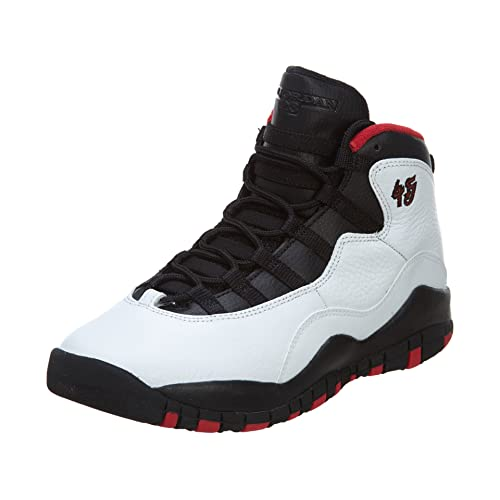 promo code a91a9 c8e65 AIR Jordan 10 Retro Big Kids Style, White Black True Red, 7
