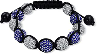 shamballa bracelet blue and white