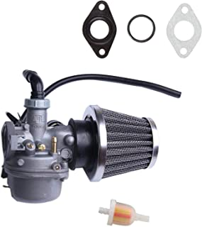 Chanoc PZ19 Carburetor with Air Filter Fuel Filter for 50cc 70cc 90cc 110cc 125cc Kid's ATV Scooter Dirt Bike Pocket Bike