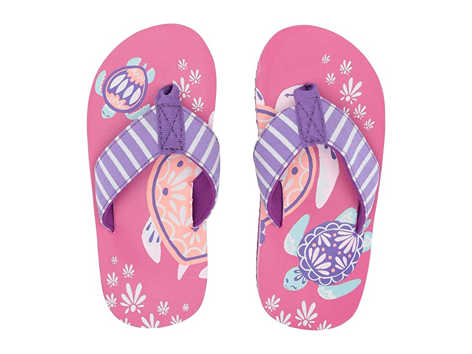 Hatley Kids Limited Edition Flip-Flop (Toddler/Little Kid) (Pretty Sea Turtles) Girl