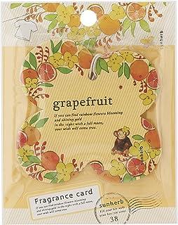 サンハーブ フレグランスカード グレープフルーツ(芳香剤 エアフレッシュナー シャキっとまぶしい柑橘系の香り)