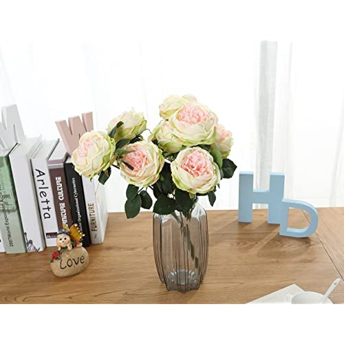 Green And Pink Flowers Bouquet Amazon