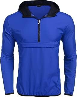 COOFANDY Unisex Lightweight Rain Jacket Packable Hooded Running Cycling Hiking Waterproof Outdoor Raincoat