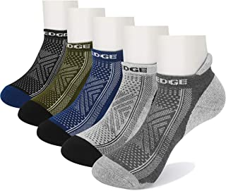 Wicking Breathable Comfort Cushion Cotton Low Cut Ankle Running Socks(5 Pairs/Pack)