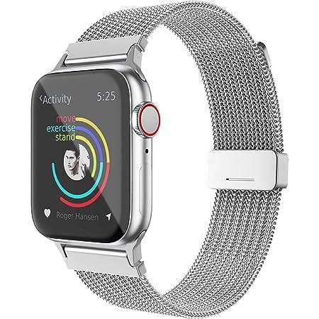 BRG コンパチブル Apple Watch バンド ミラネーゼループ コンパチブル アップルウォッチバンド ステンレス留め金製 コンパチブル Apple Watch ベルト コンパチブル Apple Watch SE/6/5/4/3