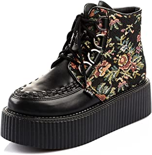 RoseG Stivali Polacchine Scarpe Da Donna High Top Creepers
