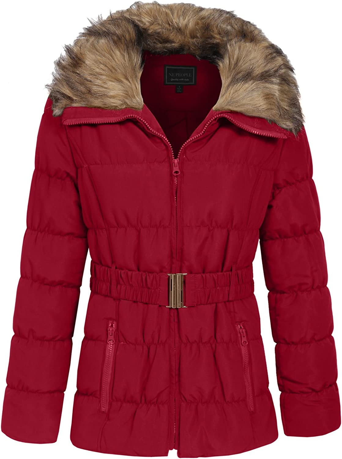 NE PEOPLE Womens Quilted Light Weight Fur Padding Jacket/Vest S-3XL