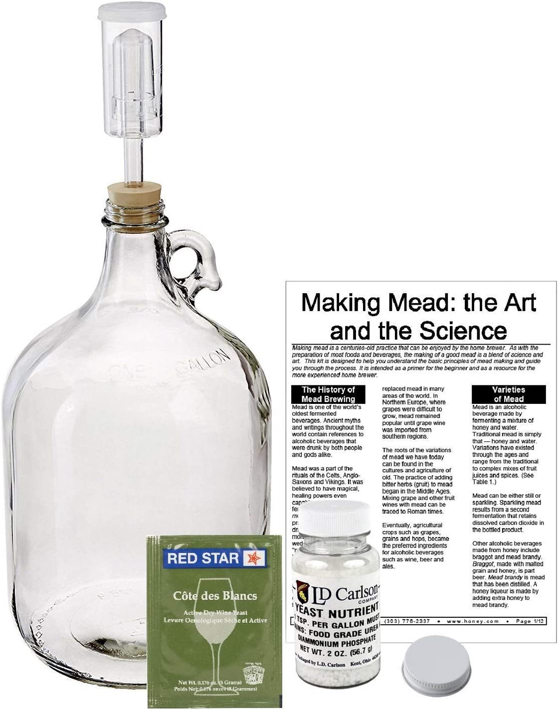 Mead Making Kit Quantity limited Mead-Kit Multicolored Max 60% OFF
