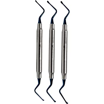 Amazon Com Wise Lucas Curette Dental Surgical Bone Curettes Serrated Set Of 3pcs Easily Remove Granulation Tissue Health Personal Care