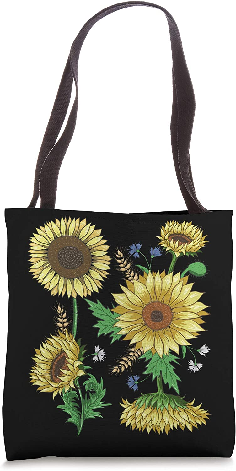 Sunflowers - Cute Floral Vintage Sunflower Tote Bag