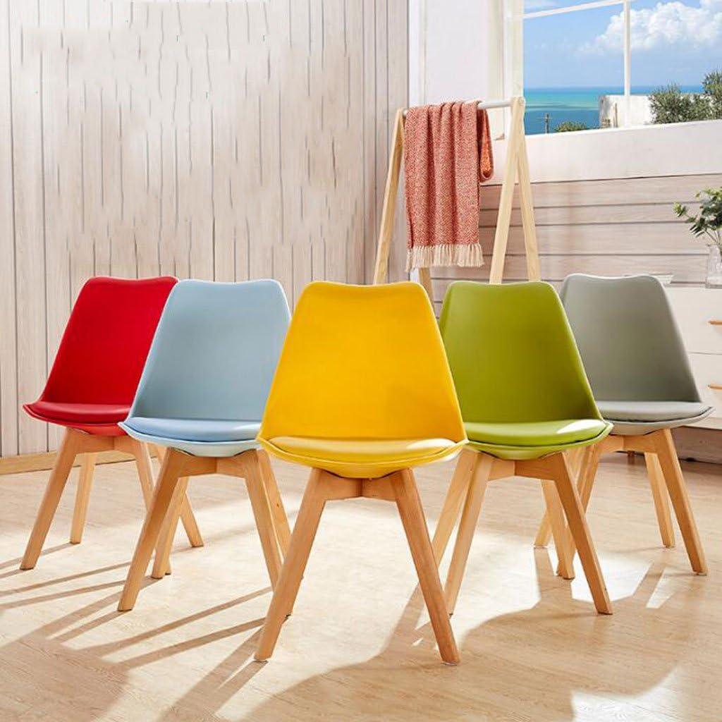 WDX- Chaise de bureau Créativité Ménage Chaise d'ordinateur Moderne Simple Personnalité Art Tabouret Dossier À Repas Chaise mode (Color : A) D