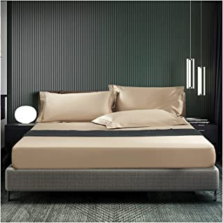 MZP Drap-Housse Satin Bonnet 30cm 2 Personne Luxe Haut de Gamme Toucher Doux et Soyeux qualité hôtel Cinq étoiles Housse d...