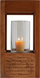 """LifeSong Milestones Funeral Keepsake Cremation Urn for Human Ashes Memorial Lantern - Sympathy Solid Cherry Wooden Candle Holder - 6.5"""" x 6.5"""" x 13"""" (Those Who We)"""