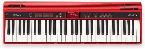 Clavier numérique GO:KEYS GO-61K Roland, clavier de création musicale avec connexion sans fil aux smartphones, couleu...