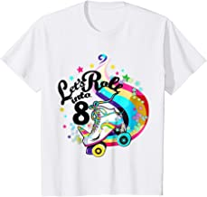 Kids 8 Year Old Birthday Shirt Girl Roller Skate Unicorn Outfit
