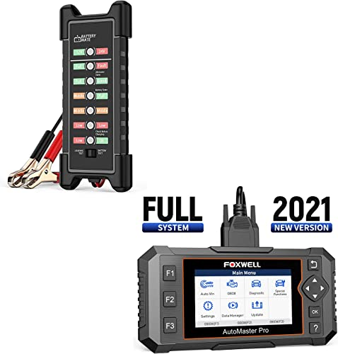 popular FOXWELL 12V 24V Battery Tester sale and NT644 Elite Full System Diagnostic Scanner outlet online sale with 19 Service Reset Functions online sale
