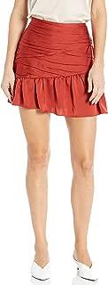 Women's Mimi Satin Rouched Skirt