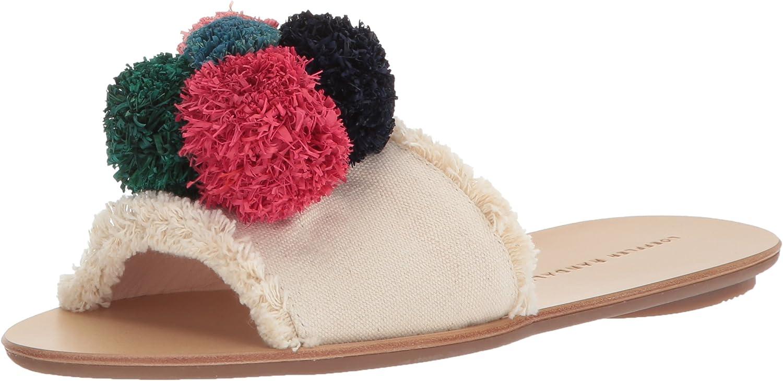 LOEFFLER RANDALL Women's Gabi (Canvas Pom) Flat Sandal