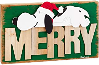 Hallmark Peanuts Snoopy Rustic Wood Quote Sign Plaques & Signs Movies & TV