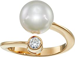 10mm Pearl & CZ Wrap Ring