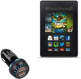 Carregador de carro Kindle Fire HD 7 (2ª geração 2012), BoxWave [Carregador duplo QC3.0] Carregador duplo para carregament...