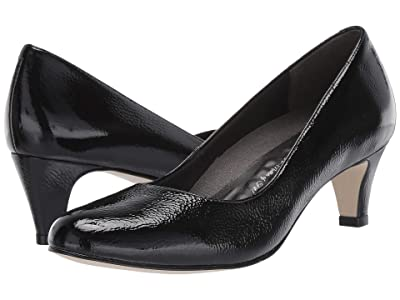 Walking Cradles Joy (Black Tumbled Patent) Women