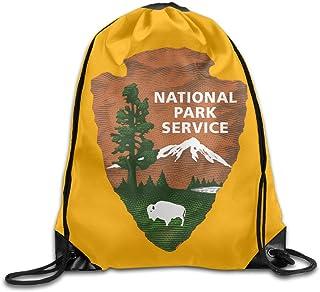 20ec4502 US National Park Service Logo Cool Drawstring Backpack String Bag