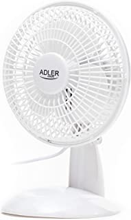 Adler AD7301 Portatil de Escritorio, 15cm, 30W, 2 Velocidades, Ventilador de Mesa de Ø15cm, 15 cm