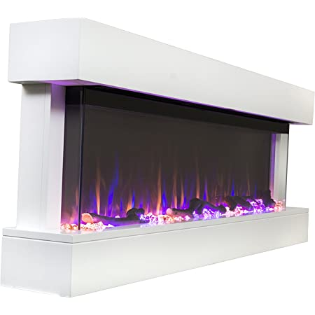 """Touchstone Chesmont 50"""" 80033 50"""" White Mantle, Wall Hanging Electric Fireplace"""
