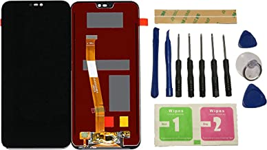 Red Huawei P20 Lite 2018 Wallet Case Card Holder Slots Shockpoof Case Leather Wallet Flip Phone Case with Magnetic Closure for Huawei P20 Lite 2018 // ANE-LX1 // LX2 // L23 Slim Bumper Full Case