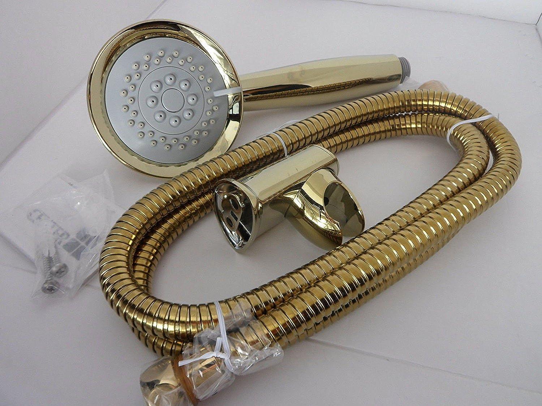 Generic LQ.. 1.. LQ.. 2457.. LQ, 5metr 1,5Meter TION SH Kopf und NLE Edelstahl Teel HO Gold 3Funktion Dusche Schlger Schlauch mit Halterung NV _ 1001002457-cnuk22_ 332