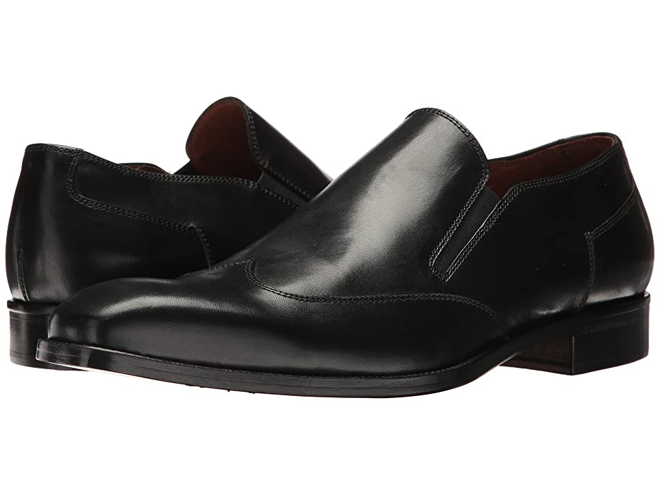Massimo Matteo Wing Tip Slip-On (Black) Men