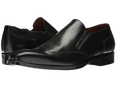 Massimo Matteo Wing Tip Slip-On (Black) Men
