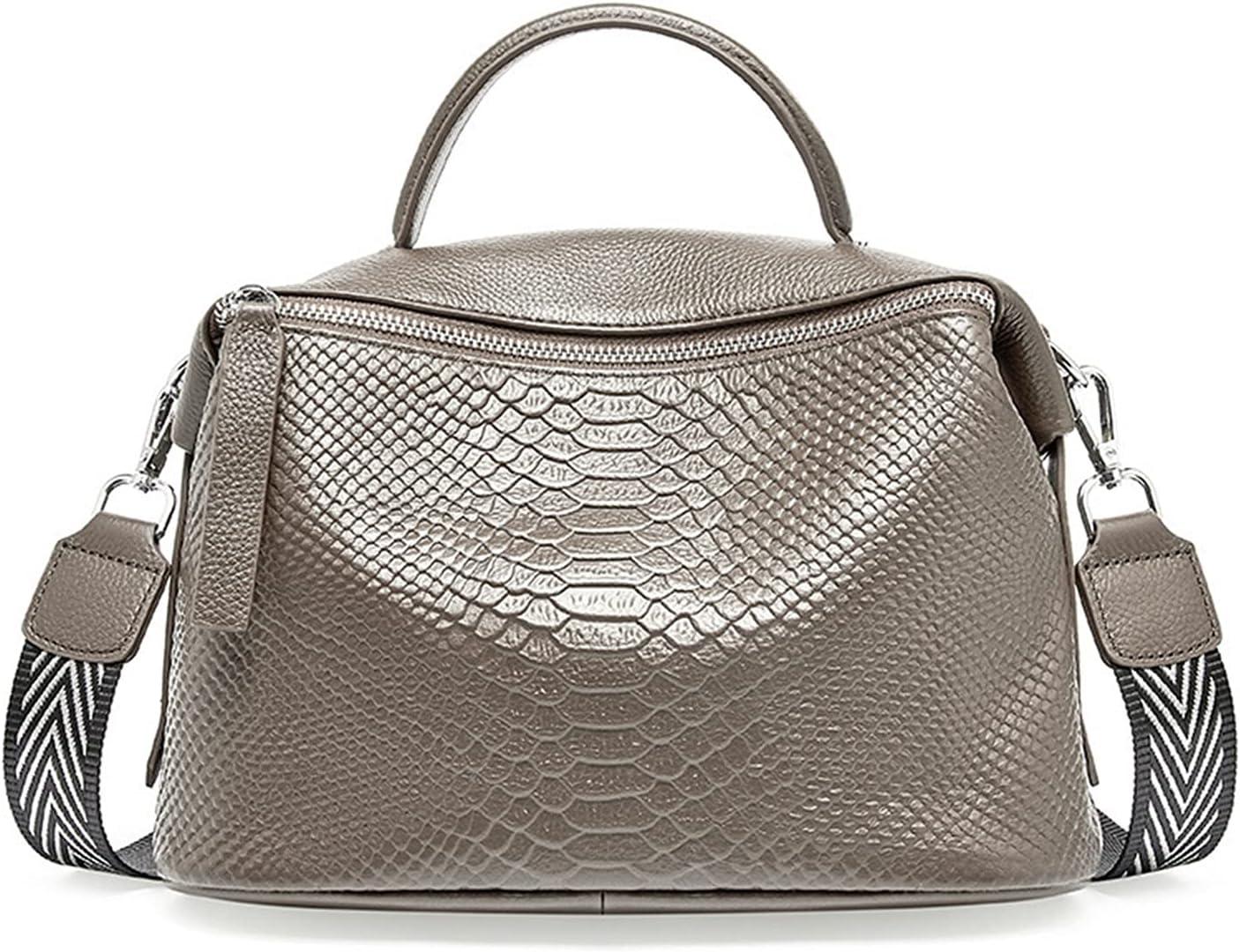 Genuine Leather Crocodile Pattern Max 66% OFF Women's Handbag Boston price Bag Sho