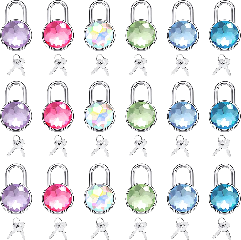 18 2021 Pieces Small Translated Padlock with Key Diary Luggage Colorful Su Locks