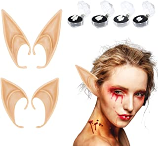 Amosfun Orejas de Elfo de Halloween Cosplay Hada Duendecillo Orejas de Elfo Fiesta de Anime de Halloween Vestir Mascarada Aro de Pelo Accesorios de Cosplay de Halloween Colorido
