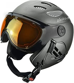 Slokker Raider Ski Helmet with Attached Photochromatic Polarizing Goggles