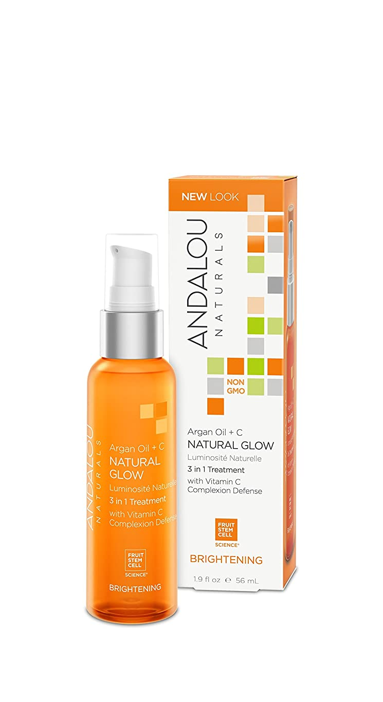 工場方言電子オーガニック ボタニカル 化粧用油 美容液 美容オイル ナチュラル フルーツ幹細胞 「 AO ナチュラルグロー 3 in 1 」 ANDALOU naturals アンダルー ナチュラルズ