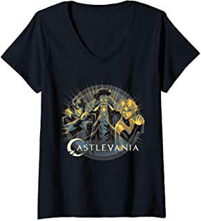 Femme Castlevania Group Shot Sun Rays Portrait T-Shirt avec Col en V