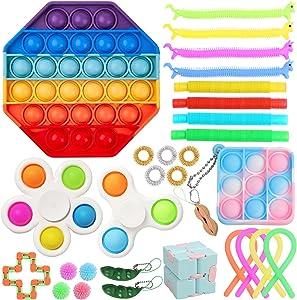 ערכת צעצוע פידג'ט חושי לילדים מבוגרים חבילה של 30, אוטיזם - מיניאטורות