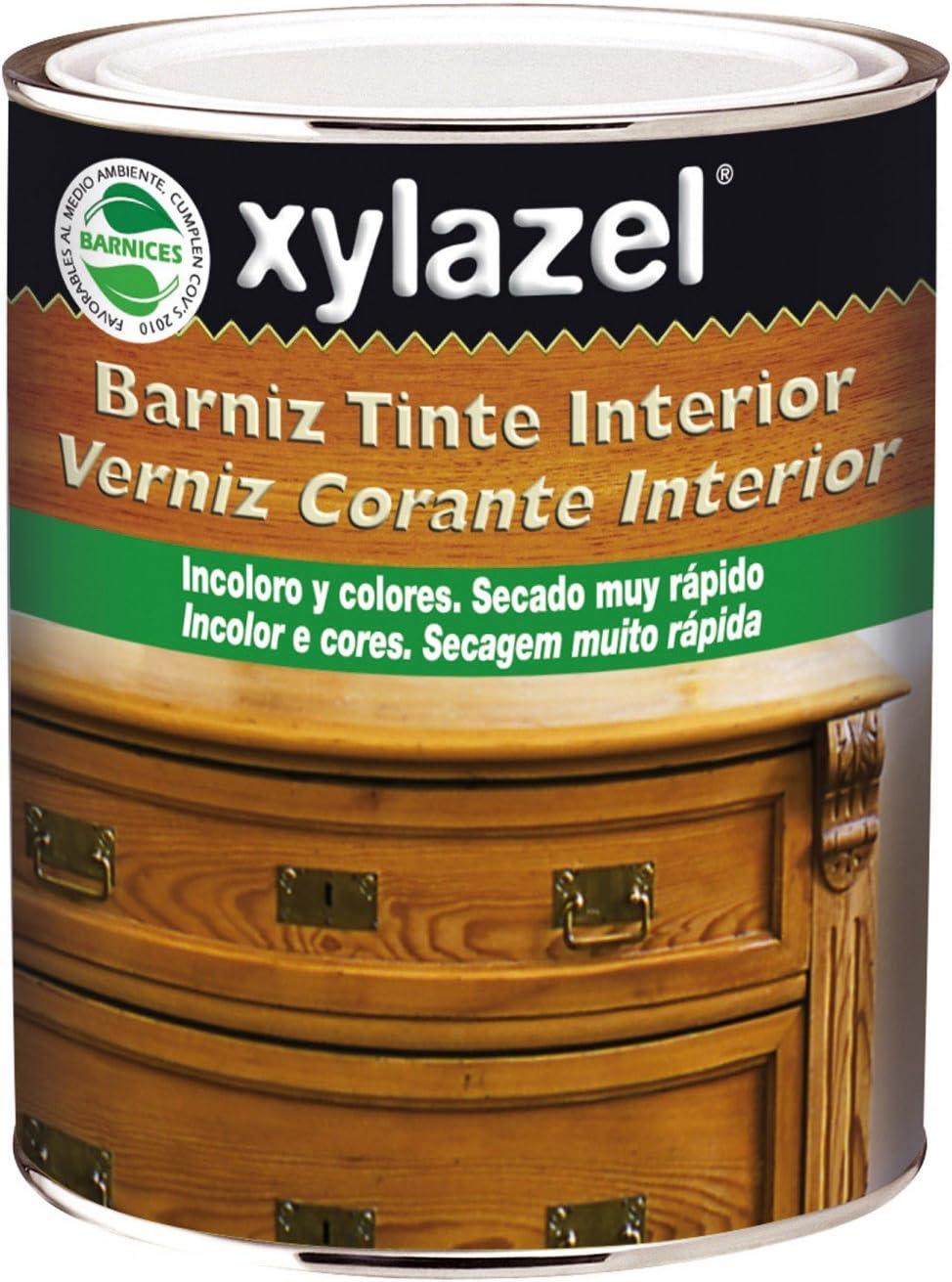 Xylazel - Barniz tinte interior brillante 375ml caoba