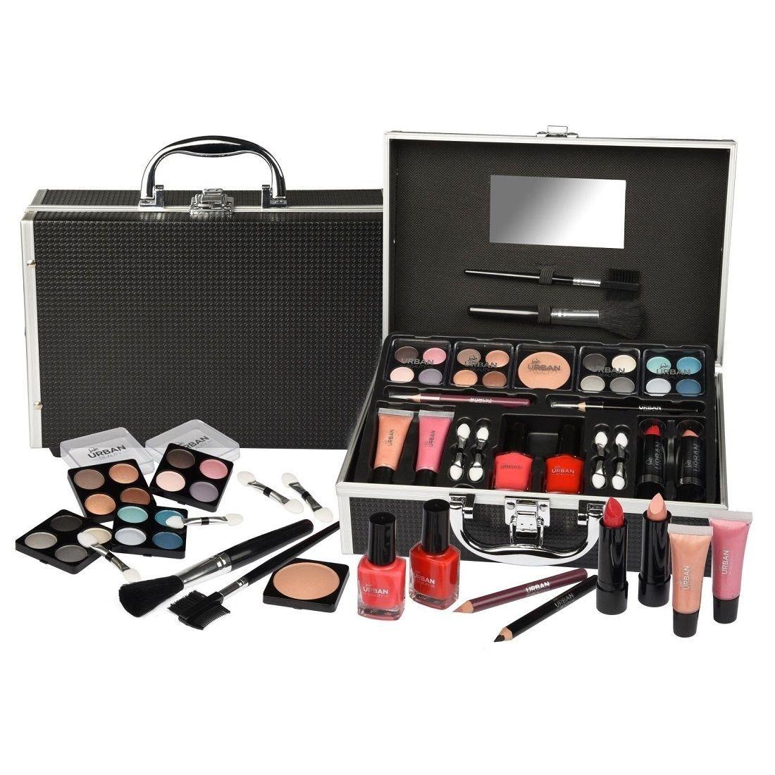 Kit de Maquillaje genérico para Llevar cosméticos, Maquillaje, Caja de Maquillaje, Caja de Regalo, Caja de Regalo Negra para gi niñas, Caja de Maquillaje, Estuche de Viaje: Amazon.es: Electrónica