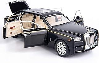BDTCTK 1/24 Rolls-Royce Phantom Model Car,Zinc Alloy Pull Back Toy car with Sound and Light for Kids Boy Girl Gift(Black)